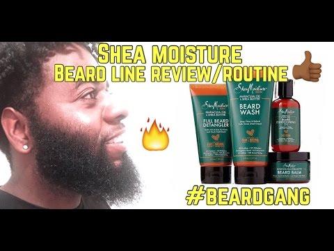 Shea Moisture Beard Line Review/Beard Routine (Black Men's Beard Care)