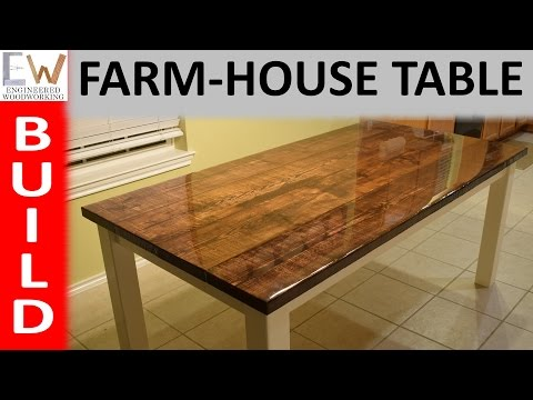 Farm-house Table Design 1 - Epoxy Coating
