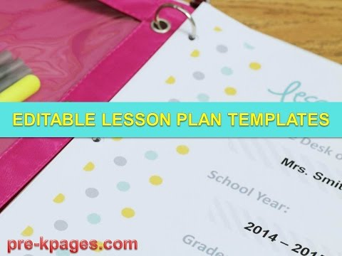 Printable Lesson Plan Templates