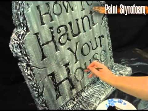 Paint Styrofoam Tombstone