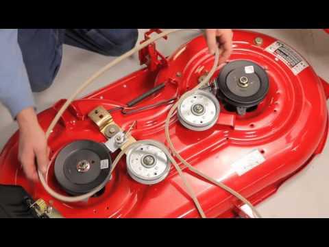 How to change the deck belt | Troy-Bilt riding lawn mower