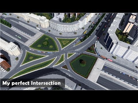 My Best Working Intersection with manual traffic lights - Cities Skylines: Custom Builds