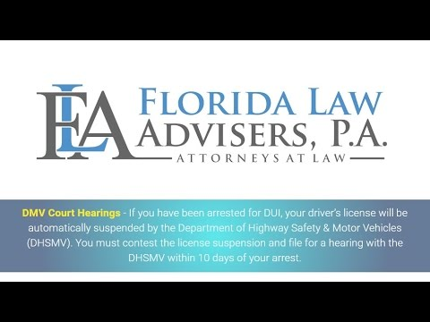 DMV Court Hearings - DUI Attorneys in Tampa