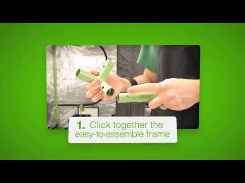 5 Simple Steps to Assemble the Green-Qube 240 (GQ240) Grow Tent