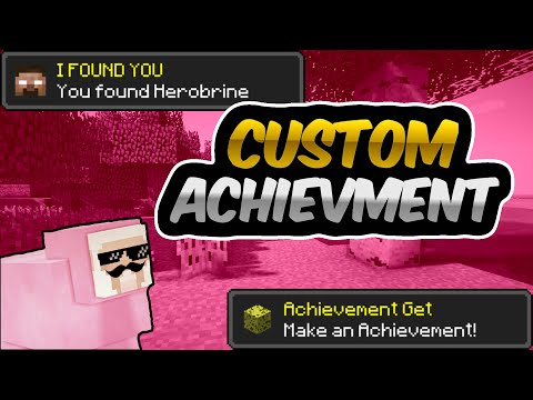 CUSTOM MINECRAFT ACHIEVEMENTS ON ANDROID! - How to Make Custom MC Achievements Tutorial w/PinkSheep