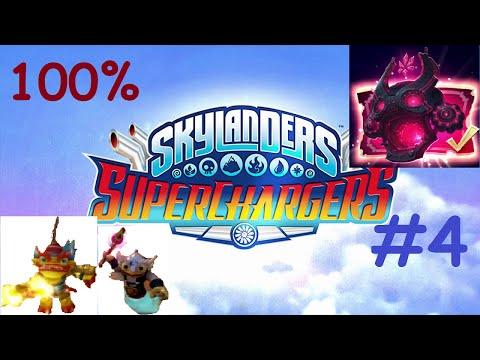 Skylanders Superchargers Walkthrough 100% | NIGHTMARE MODE | Fire Kraken + Hoot Shift (2 Player) #4