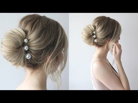 HOW TO: SIMPLE BUN | PROM HAIRSTYLES 2018