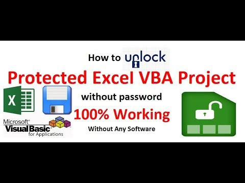 How to unlock VBA Protect without password. 100% working. Without any software