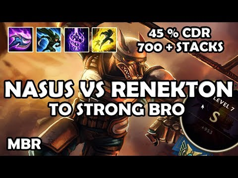 Riot-K9 Nasus Vs Renekton | Nasus Too Strooong 700+Stacks | Season 7
