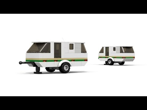 LEGO MOC - Camping Trailer tutorial