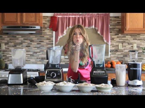 How to make Flour - Grain - Mill - Grinding - Blend off. Blendtec vs Vitamix - Nutribullet vs Ninja.