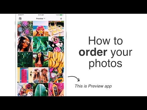 How to Plan / Order / Color Coordinate Instagram photos - Beautiful Theme - Preview App
