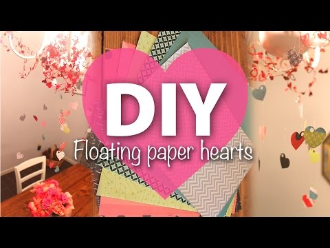 ♥ DIY Floating Paper Hearts ♥ | ArtsyPaints