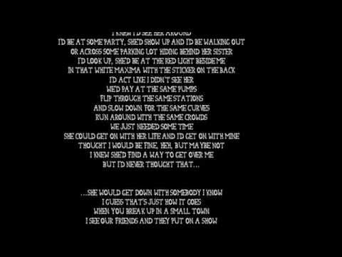 Sam Hunt - Break up in a Small Town with lyrics