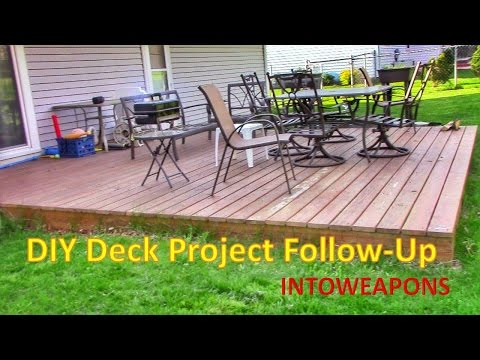 DIY Building a Ground Level Deck:  2 Year Follow-Up!