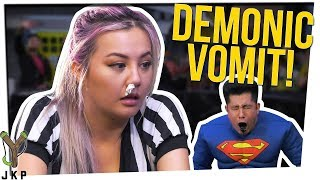 Halloween Smoothie Challenge   WORST TASTING THING EVER?   Ft. Gina Darling