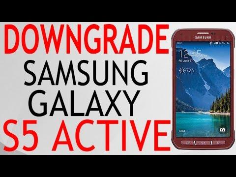 DOWNGRADE SAMSUNG GALAXY S5 ACTIVE G870A AT&T DE 6.0.1 A 5.0