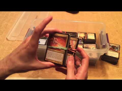 ASMR building a Commander deck (part 1)