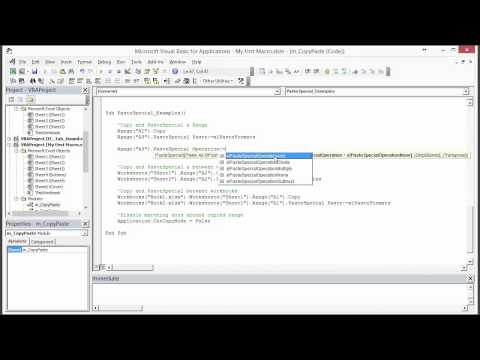 How to Write VBA Macros to Copy and Paste in Excel - Part 3 of 3