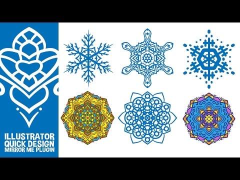 Quick Snowflake And Mandala Design With Mirror Me Plugin Illustrator