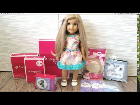 Unboxing American Girl Doll Clothes Haul from Indigo and Wish