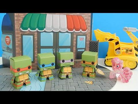 TMMT Teenage Mutant Ninja Turtles Boxos Paper Craft Set PART TWO