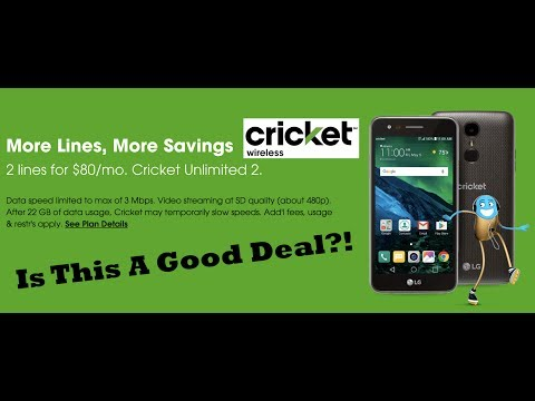 Cricket Wireless *NEW* $80 CRICKET UNLIMITED 2 PLAN - Explained!