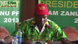 Kudzai Chipanga Zanu-PF Youth Leader press statement #263Chat