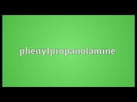 Phenylpropanolamine Meaning