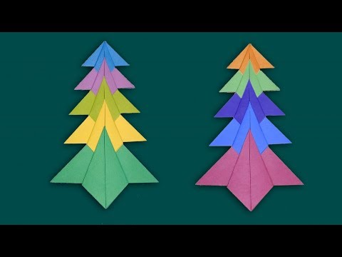 Christmas Tree With Paper | How to Make a Paper Christmas Crafts | DIY Xmas Tree Tutorial