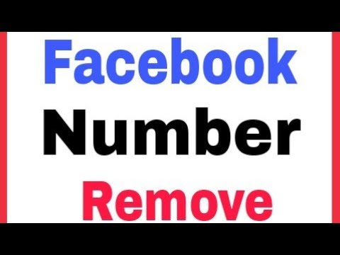 How To Delete Remove Number In Facebook Account
