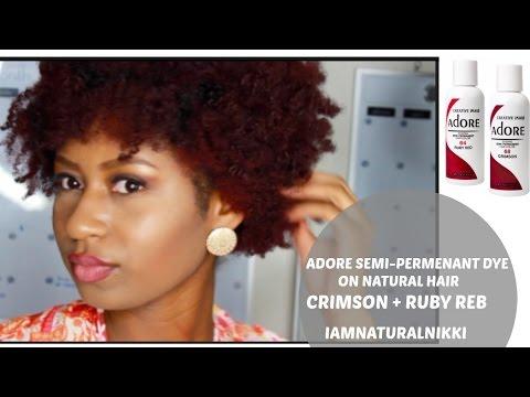 Dying Natural Hair | Red Adore Semi-Permanent | NaturalNikki