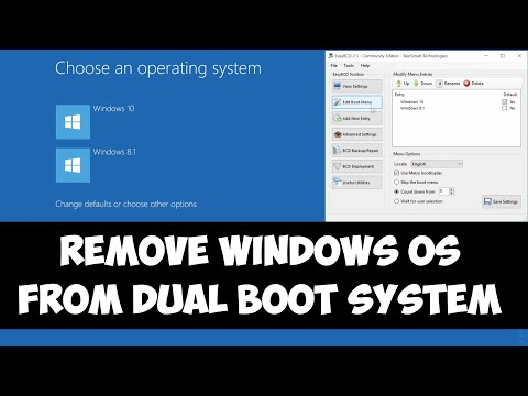 Remove a Windows OS from Dual boot system