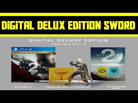 DESTINY 2 - DELUX DIGITAL EDITION, SWORD,EMOTE AND EMBLEM LEAK