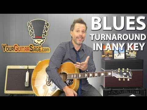Easy Way to Play Blues Turnaround in ANY Key