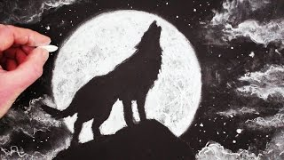 How to draw a wolf howling at the moon step by step mp3