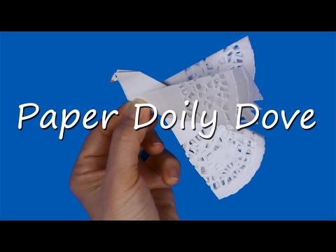Paper doily Peace Dove craft