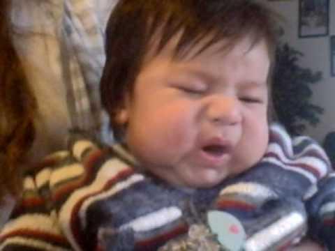 baby david burping