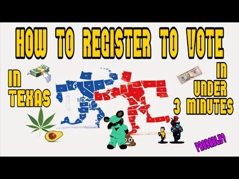 🐴⏱🐘HOW TO REGISTER TO VOTE IN TEXAS PRIMARIES... IN UNDER 3 MINUTES!... probably