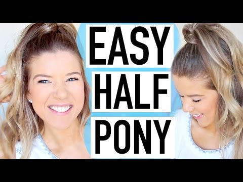 EASY Spring Hairstyle: Half Up Ponytail