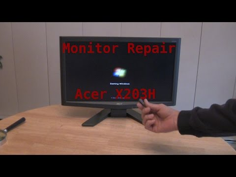 HOW TO: Easy Monitor Repair Acer X203H