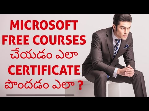 Free Microsoft Certification and Tutorial- in TELUGU