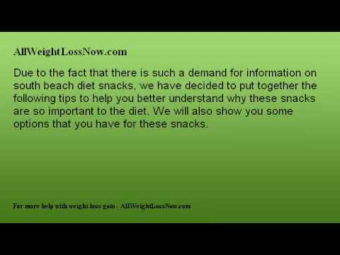 Must Have Information on South Beach Diet Snacks