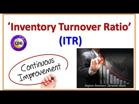 Inventory Turnover Ratio (ITR)-  Video from 'Quality HUB India'