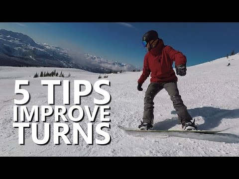 5 Tips to Improve Snowboard Turns