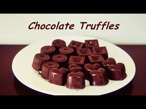Chocolate Truffles Recipe with Caramel Sauce / Strawberry Ganache and Chocolate Custard