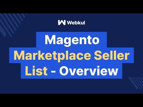 Magento marketplace seller vendor list