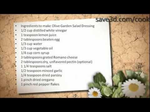 Secret Recipe - How to make Olive Garden Salad Dressing (Copycat Recipes)