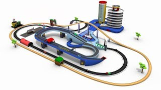 Car parking cartoon - cars cartoon- cars for kids - trains for children - toy factory cartoon