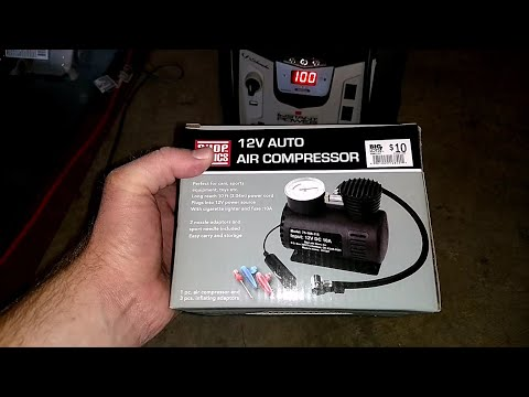 $10 Air Compressor from Big Lots Review